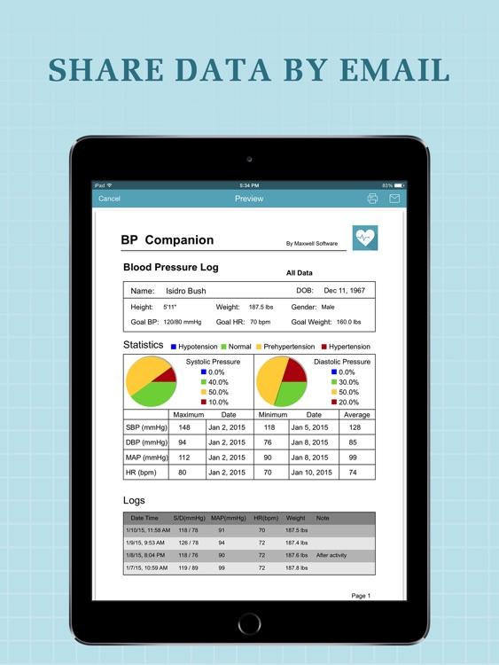 Blood Pressure Companion Pro for iPad screenshot-4