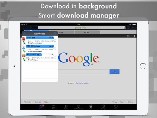 Screenshot #2 for eDl HD Free - Web Browser and File Manager