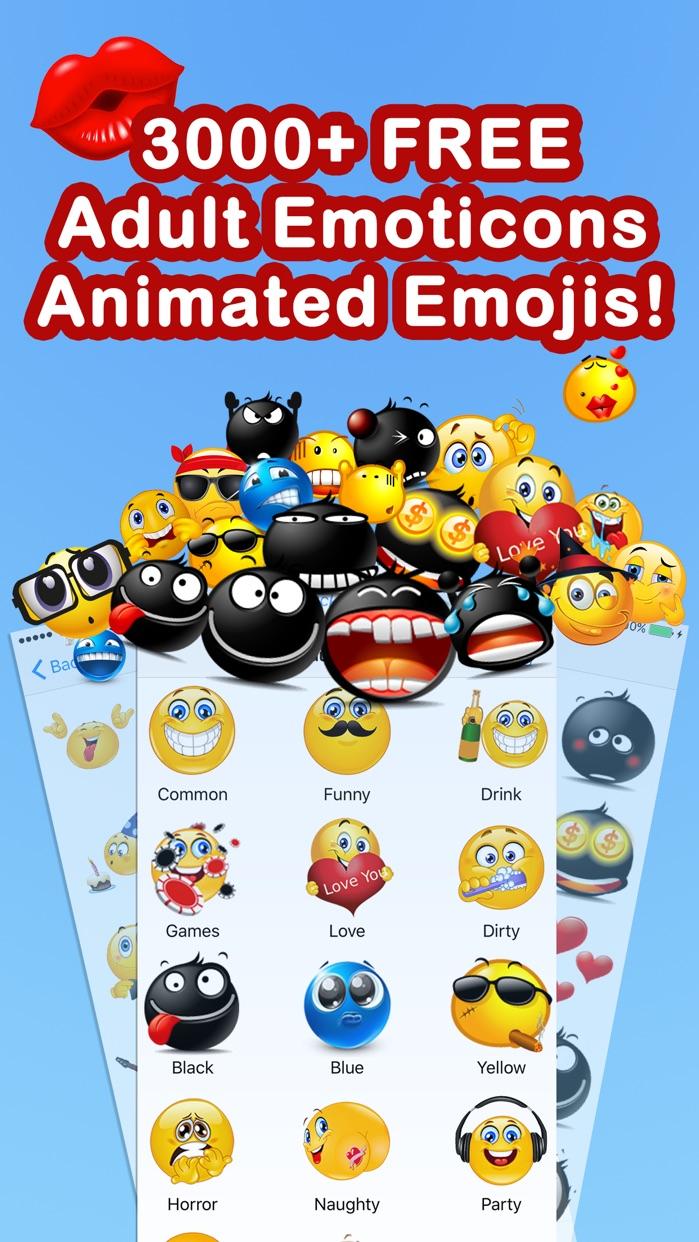 Adult Emoji Free Animated Emoticons 3D New Emojis Screenshot