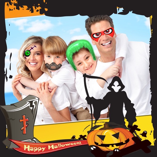 Halloween Photo Frames and Stickers Pro icon
