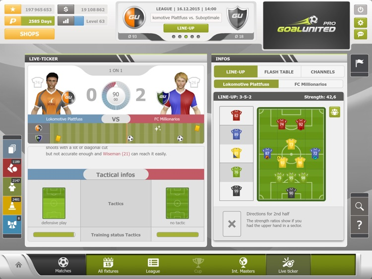 goalunited PRO – the soccer manager for experts