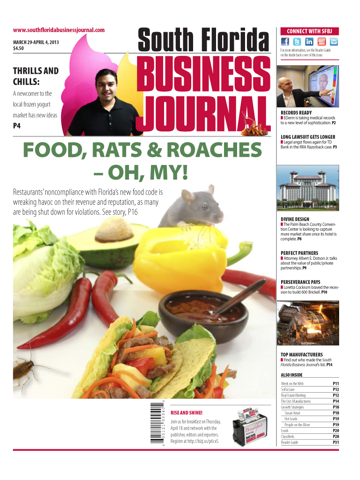 Screenshot of South Florida Business Journal