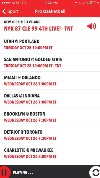 iSportsRadio - Radio, Scores & Schedules screenshot-4