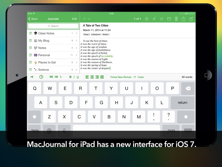 MacJournal for iPad screenshot-0