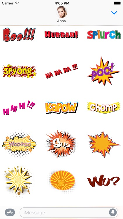 Comic book Greetings: Color chat bubble stickers screenshot-3