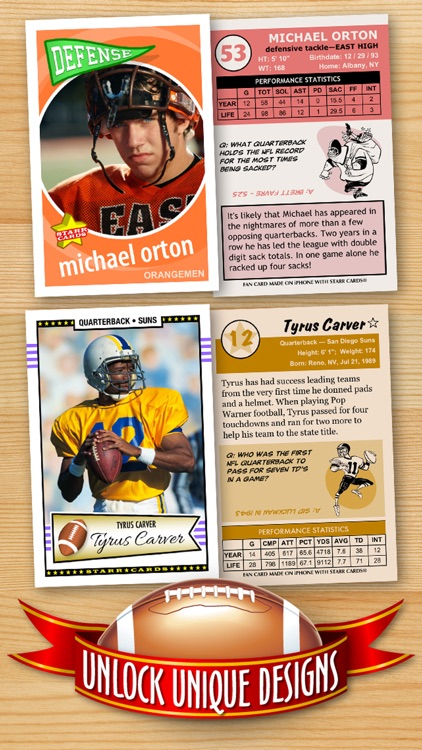 Football Card Maker - Make Your Own Starr Cards