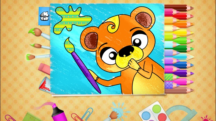 123 Kids Fun COLORING BOOK Outline Drawing Images screenshot-0