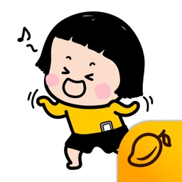 Mobile Girl, MiM Lite - Mango Sticker