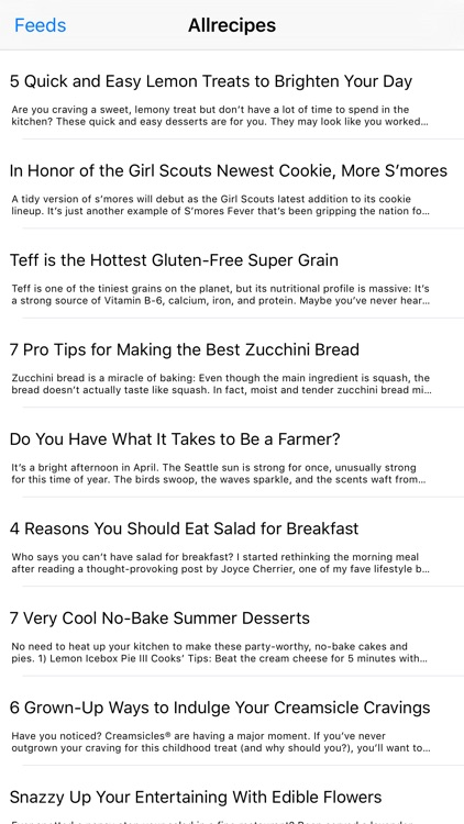 Recipes - A News Reader for Food Lovers and Easy Cooking screenshot-3