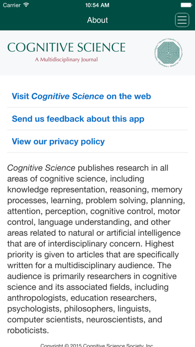 Cognitive Science screenshot four