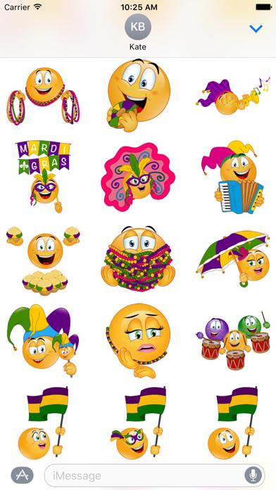 点击获取Mardi Gras Emoji Stickers