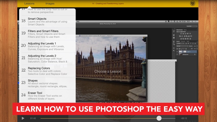 Course for Adobe PHOTOSHOP CC for iPhone