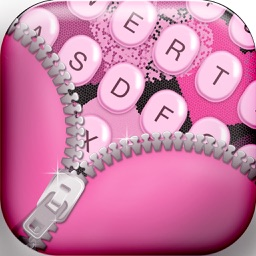 Girly Keyboards with Pink Background Theme & Emoji