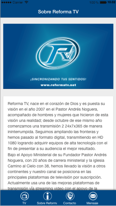 Radio Reforma TV screenshot four