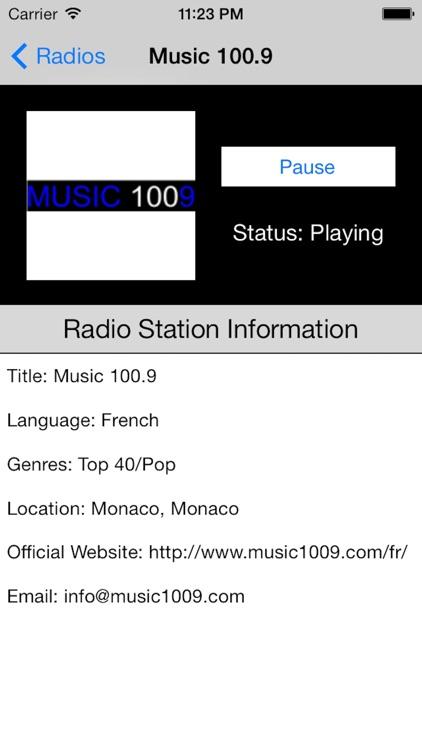 Monaco Radio Live Player (French / le français) screenshot-3