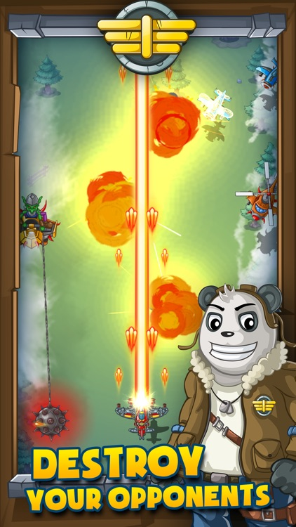 Panda Commander Air Combat - Sky Fighter & Shooter screenshot-0