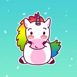 Rainbow Unicorn Cute Sticker