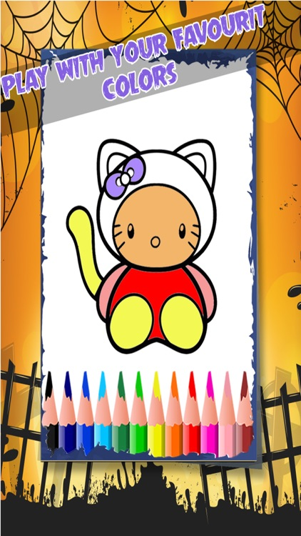 Happy Halloween Coloring Book screenshot-2