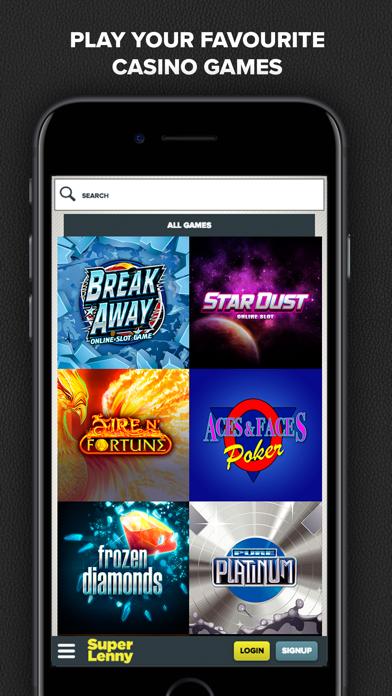 SuperLenny Legendary Casino screenshot four