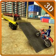 自行车转运卡车 - 真正的摩托车与大挂车驾驶模拟器