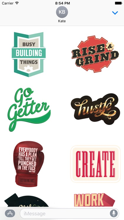 Busy Building Things - Stickers for hustlers