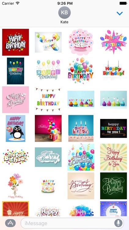 Happy Birthday Stickers!