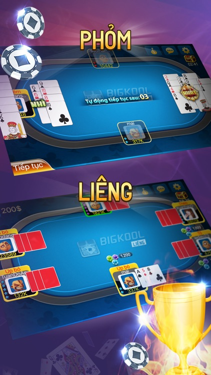 Bigkool - Choi bai Tien len Sam Phom Online