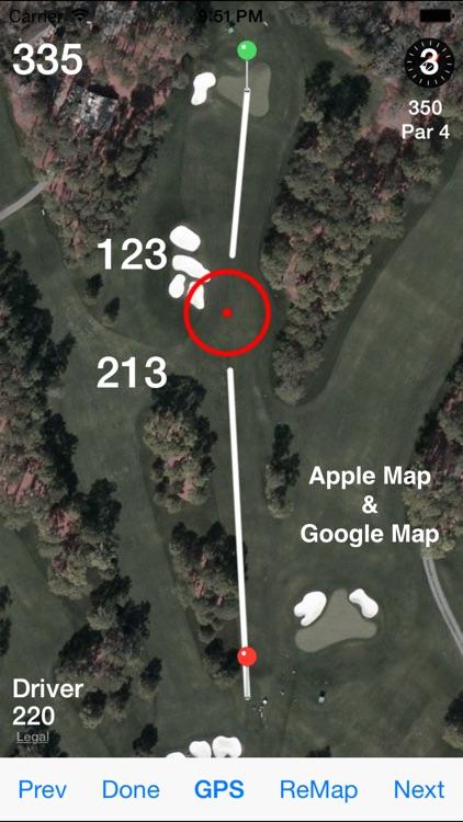 Golf GPS Range Finder Scorecard & Course Locator app image