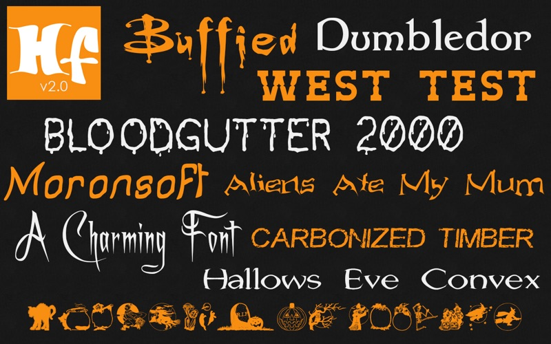 Halloween Fonts: Free Commercial Use Holiday Fonts скриншот программы 2