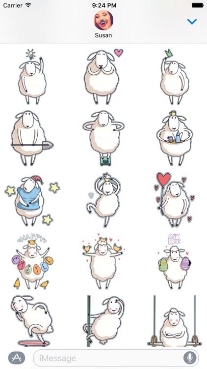 Baa the Sheep – Farm Animal Stickers for iMessage screenshot-3