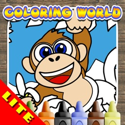 Coloring World: My Zoo Animal Friends Draw & Color Book for Kids FREE