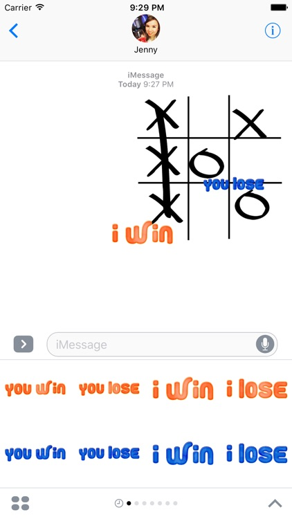 XOX Game Stickers for iMessage