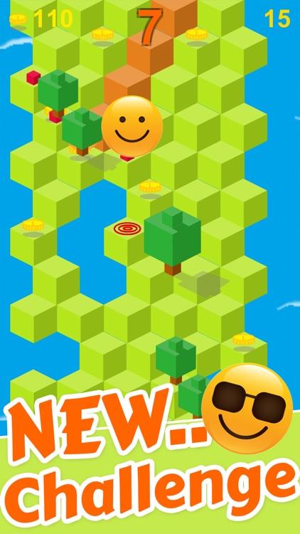 Cube Skip Emoji Fall Down : Emotion Rolling Ball Endless Games