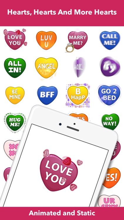Hearts - Animated Stickers