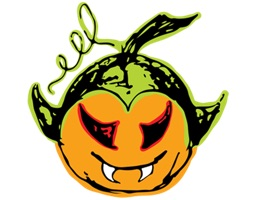 Vampkin Pumpkin Halloween is a cute, spooky set of stickers of vampires, pumpkins, witches and vampkins