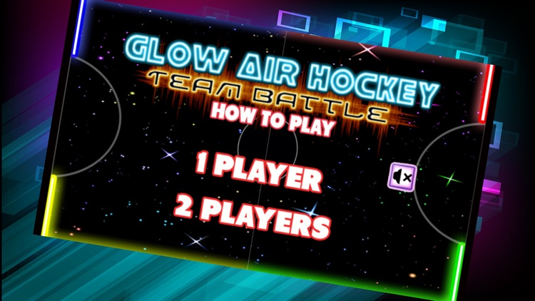 Neon Air Hockey Glow In The Dark Space Table Game