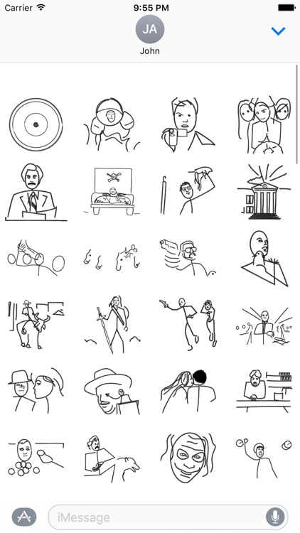 Stick Figure Movie - Stickers