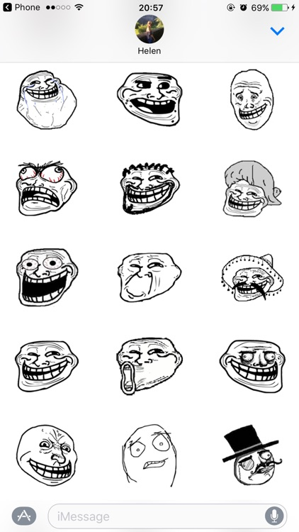 Troll Face Rage Faces Stickers for iMessage