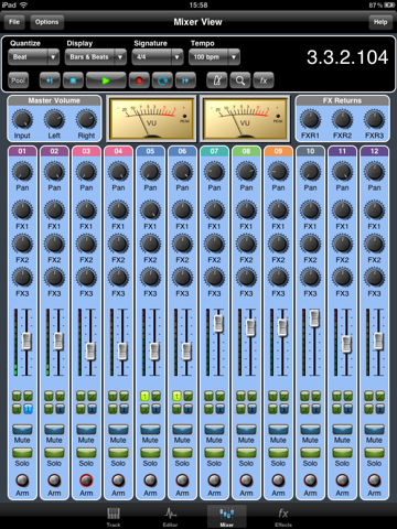 Screenshot #6 pour Meteor Multitrack Recorder