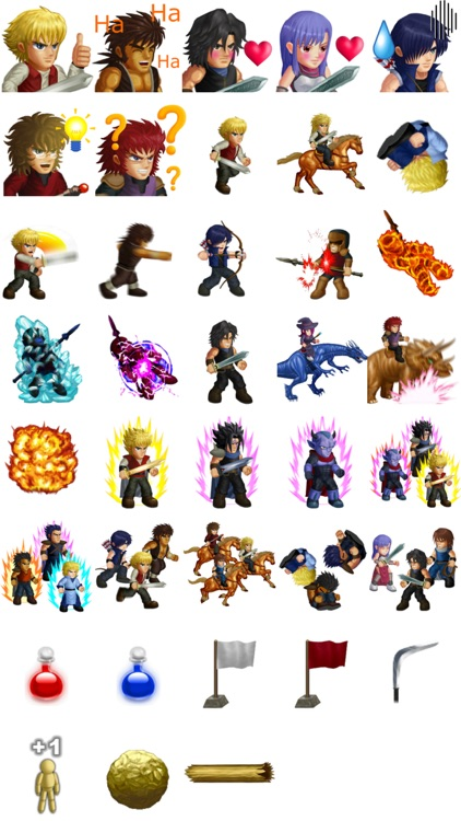 Hero Fighter X sticker pack