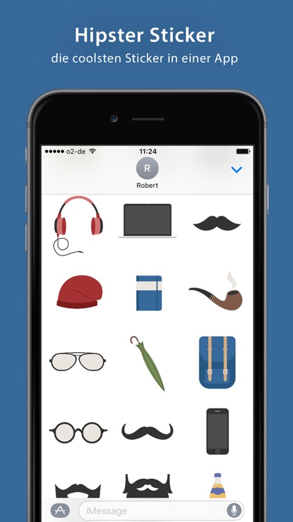 Hipster Sticker Pack - iMessage
