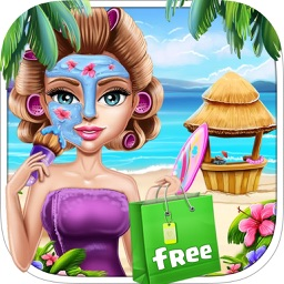 Shopaholic Beach Girl Makeup Salon - Beach Girl Makeover