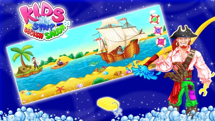 Kids Ship Wash Salon – Cleanup & repair pirate ships in this crazy mechanic game screenshot-4