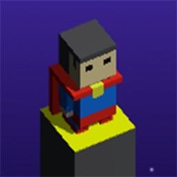 Superhero Cube Jump : Color Path Block Games