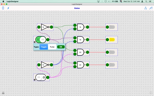 Logic Designer Lite : digitale Logikgattern Screenshot