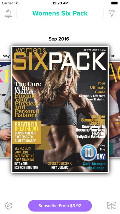 Women's Six Pack Magazine