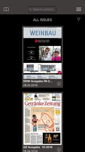 Magazine für Wein, Getränke und Gastronomie im App Store