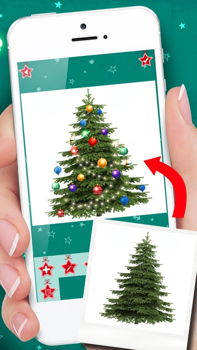 点击获取Christmas Tree Decoration & Ornaments Pic Stickers