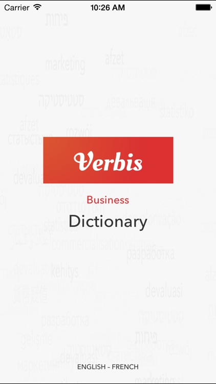 Verbis Business terms EN-FR