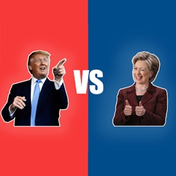 Trump vs. Clinton Moji Stickers for iMessage